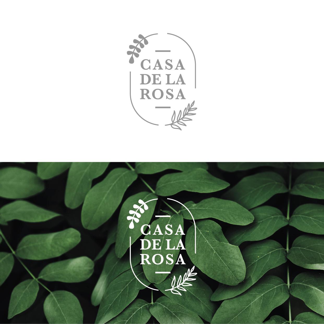 Логотип + Фирменный знак для элитного поселка Casa De La Rosa фото f_9785cd2e115680ef.jpg