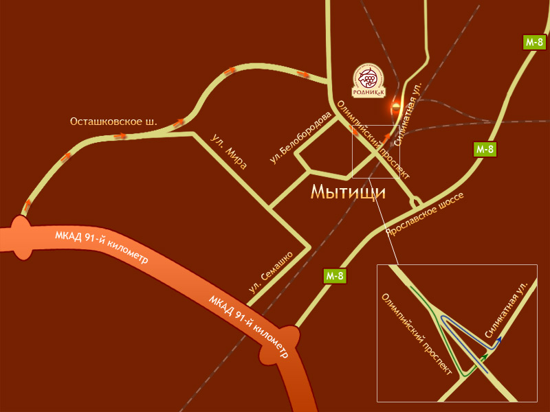 Карта проезда. Алкогольное производство