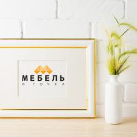 Название и логотип магазина мебели МЕБЕЛЬ и ТОЧКА