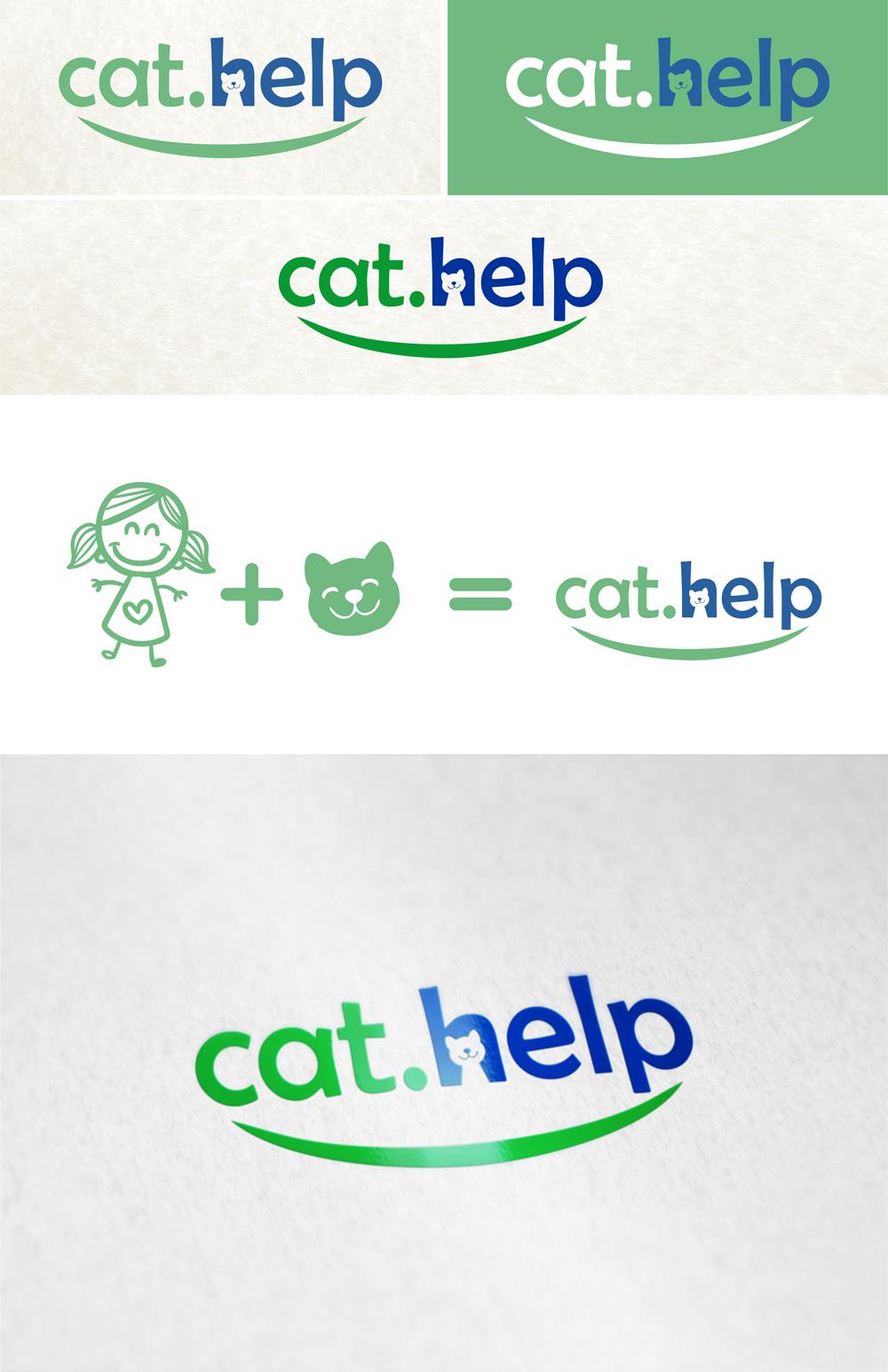 логотип для сайта и группы вк - cat.help фото f_58559e43c6b4fc44.jpg