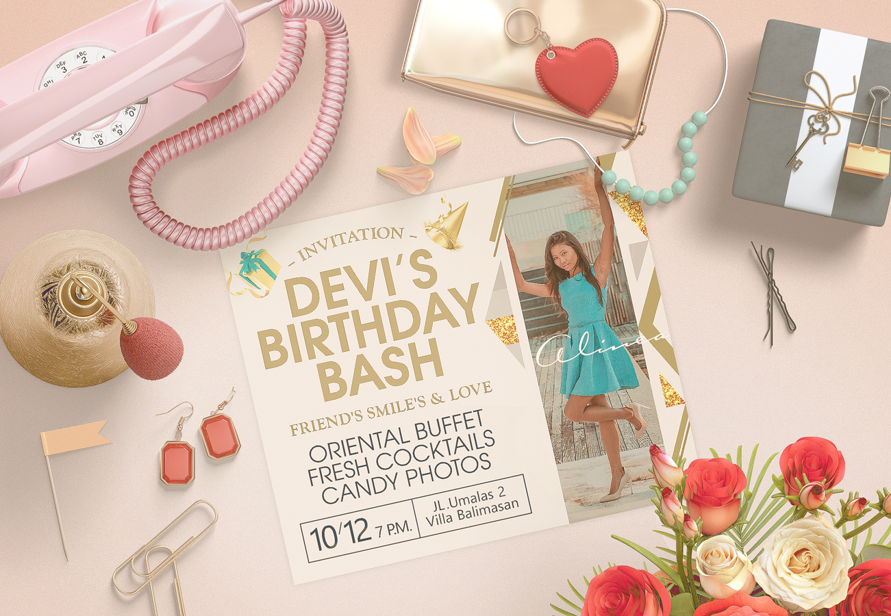 invitation «Devi's birthday bash»