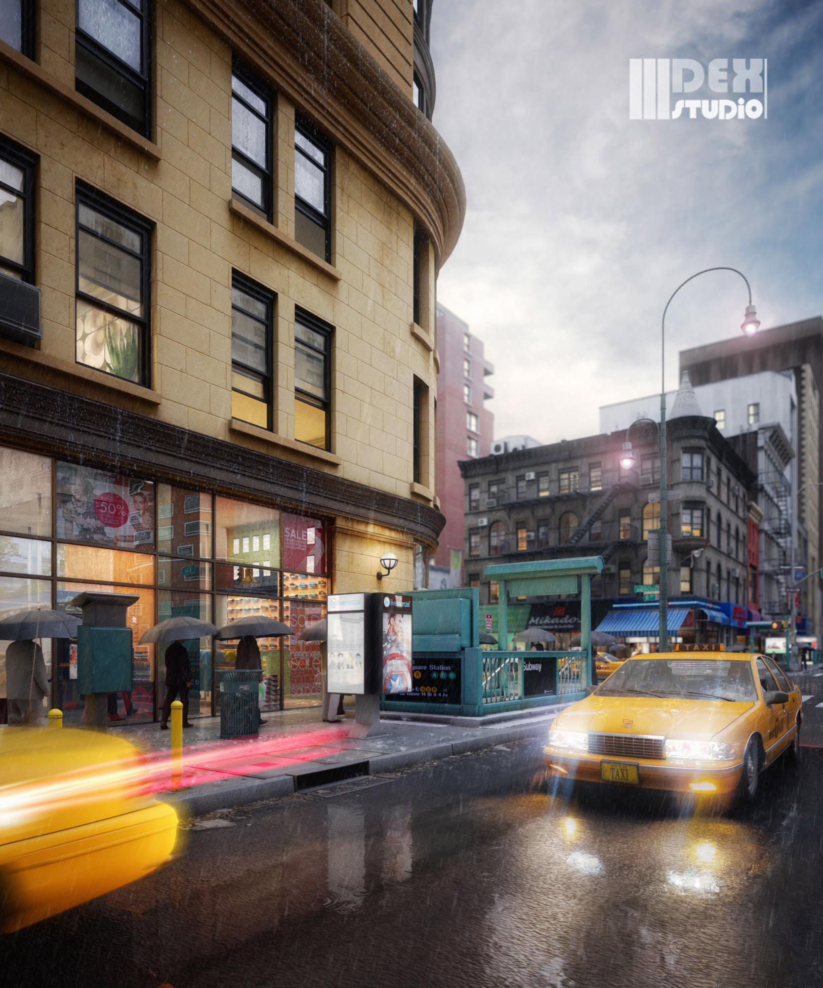 RB-CityLife_NY-intersection_Rain0