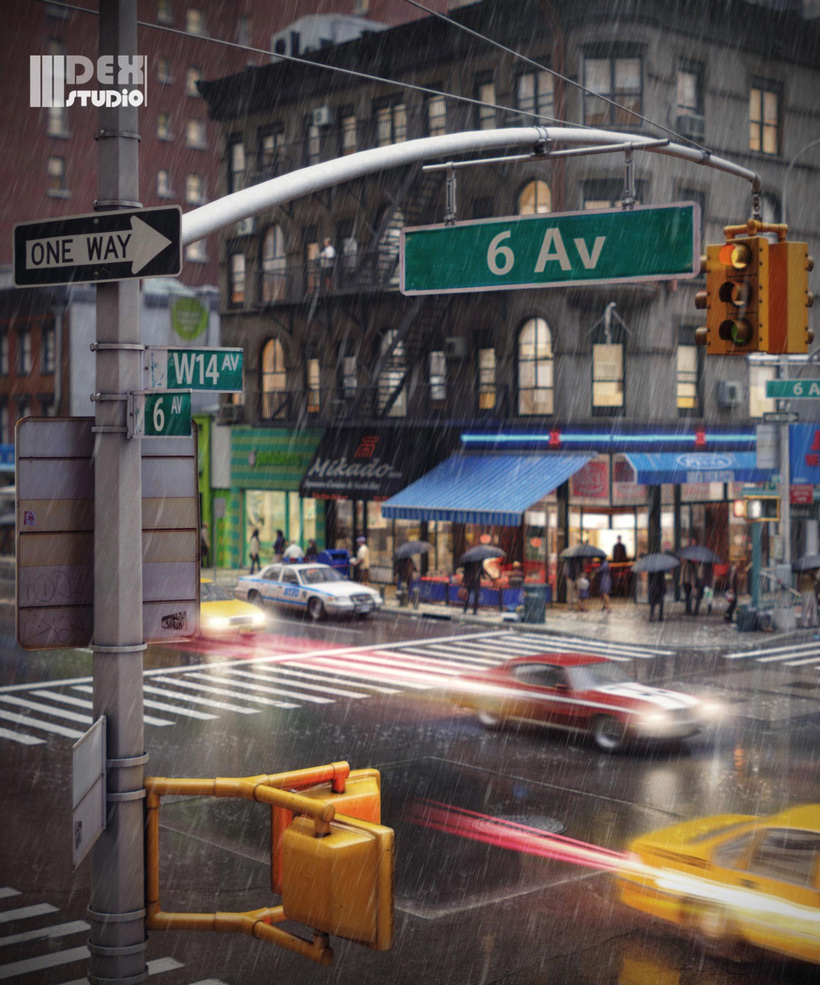 RB-CityLife_NY-intersection_Rain5