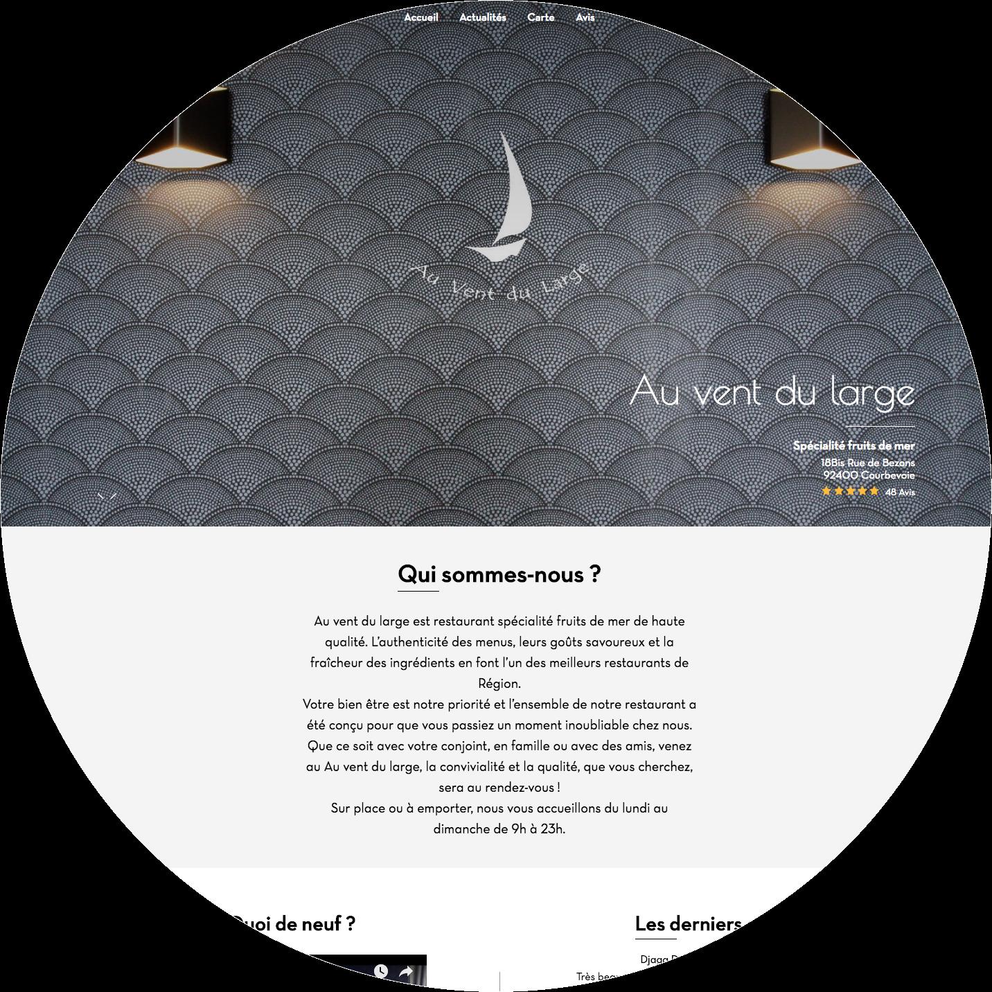 AuVentDuLargeCourbevoie - Website - desktop&mobile