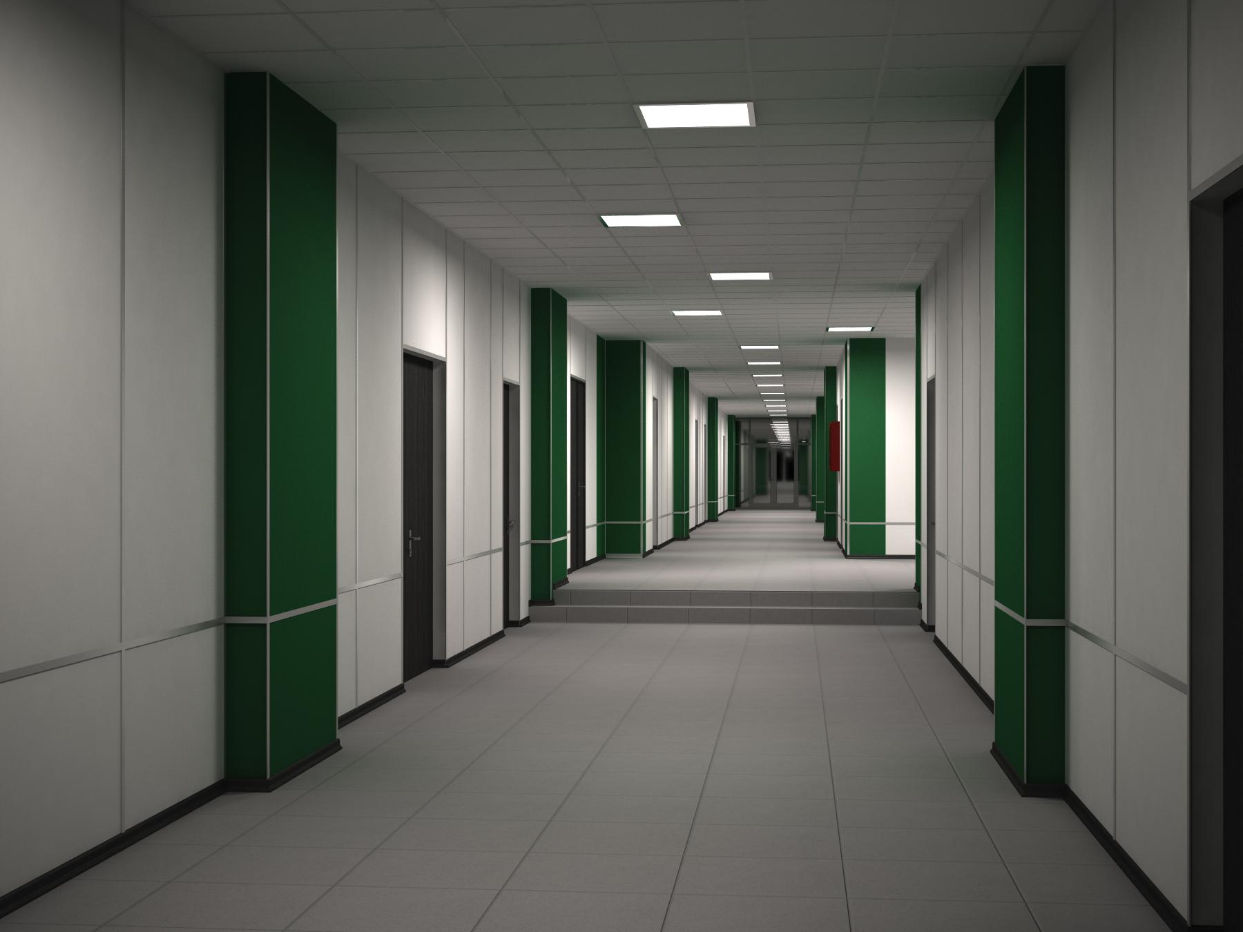 Визуализация коридора ВУЗа