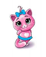Мультяшный персонаж котенок.