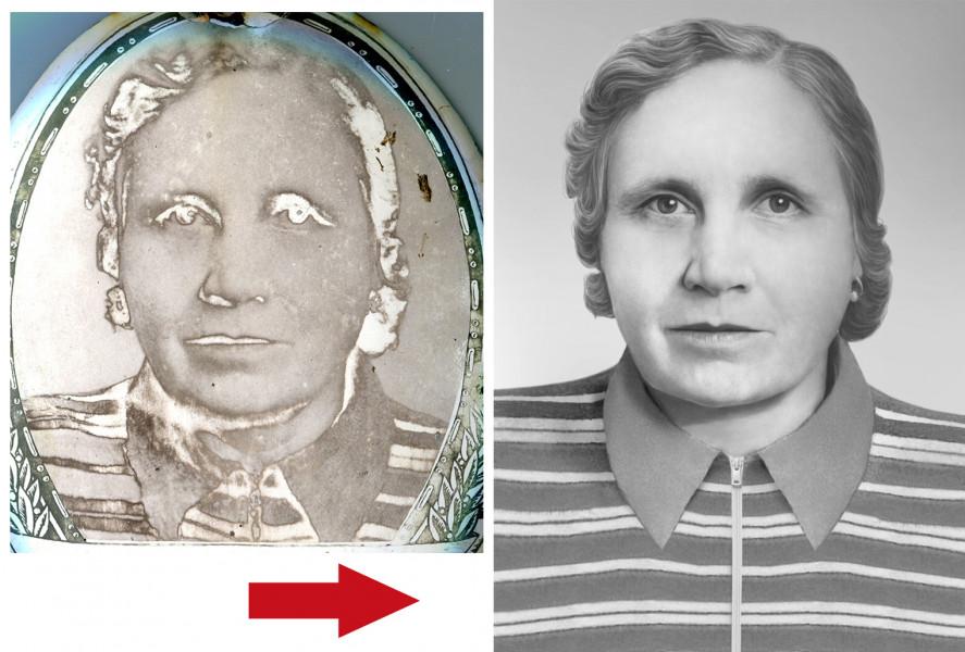Сложное восстановление фотографии для памятника