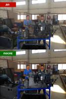 Сложная ретушь производственных помещений и агрегатов.