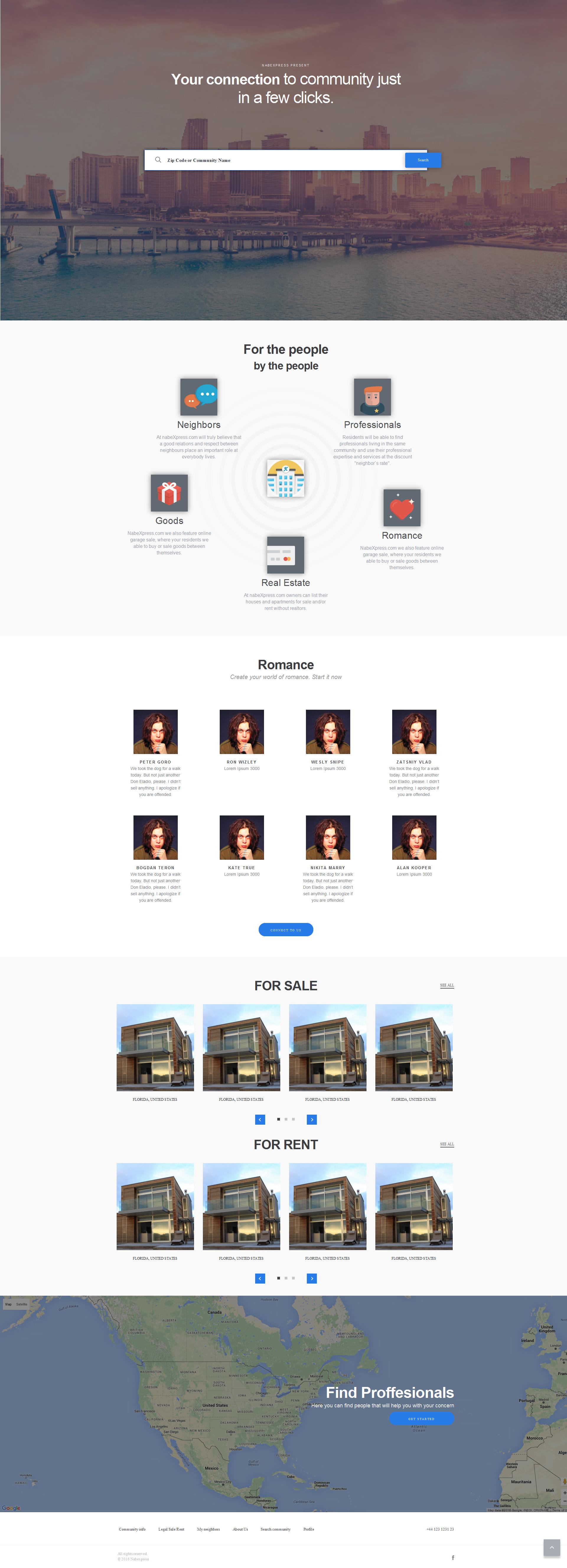 NabeXPress - Адаптивная верстка сервиса по поиску недвижимости
