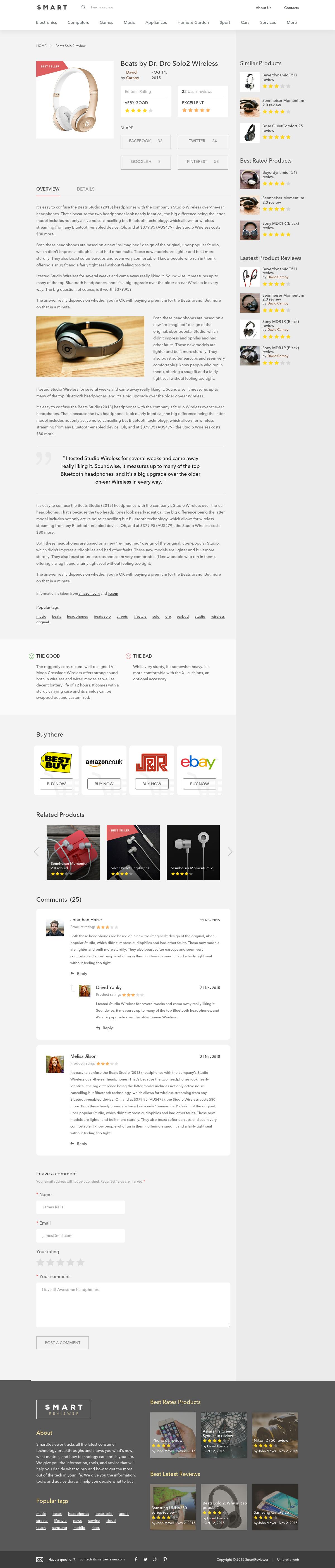 Smart-reviewer - адаптивная верстка для envato market