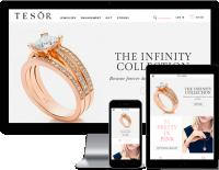 Тesor - Адаптивная верстка магазина ювелирных украшений