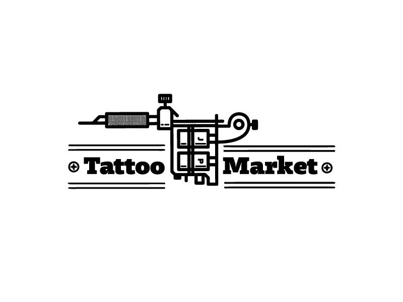 Редизайн логотипа магазина тату оборудования TattooMarket.ru фото f_6145c3fce096124c.jpg