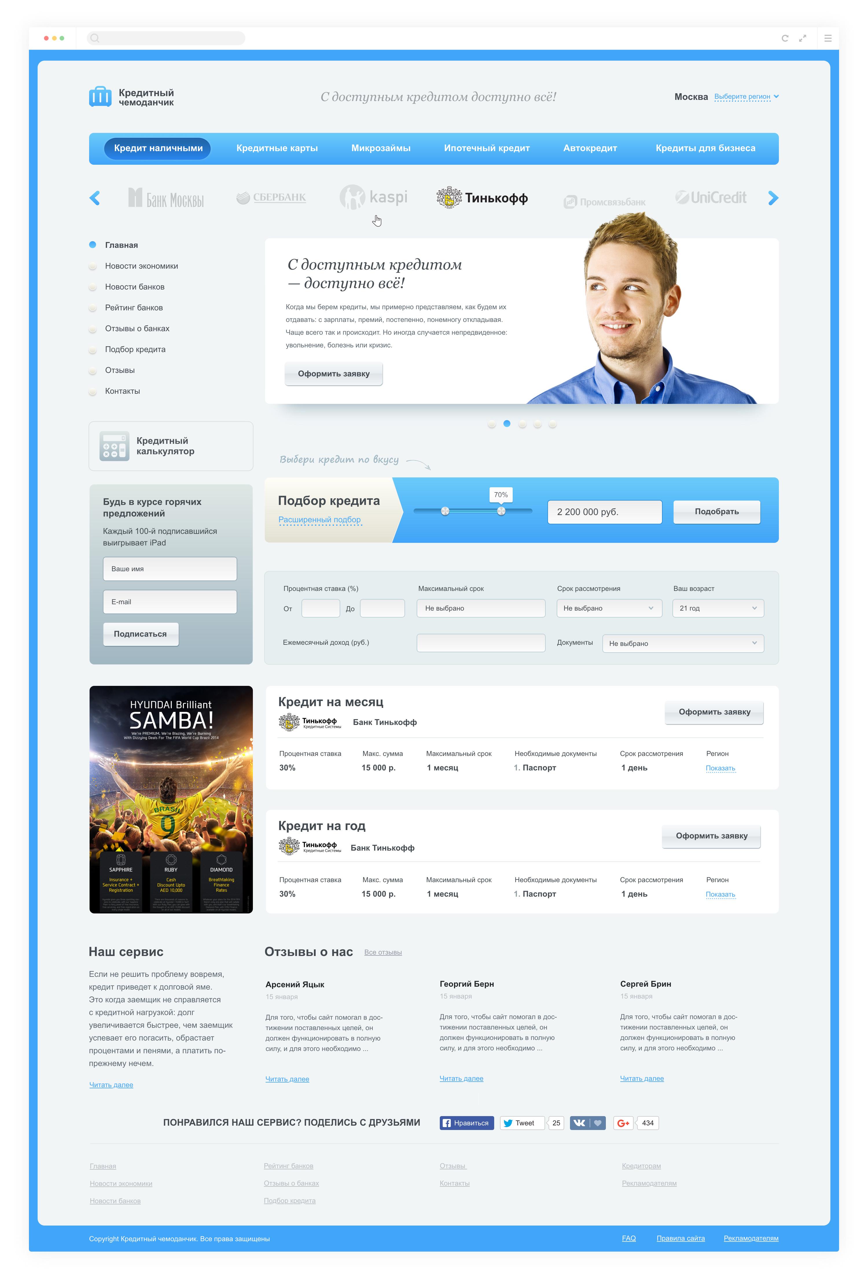 Сайт «Кредитный чемоданчик»