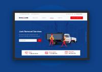 Сайт американского сервиса по утилизации «Royal Junk»