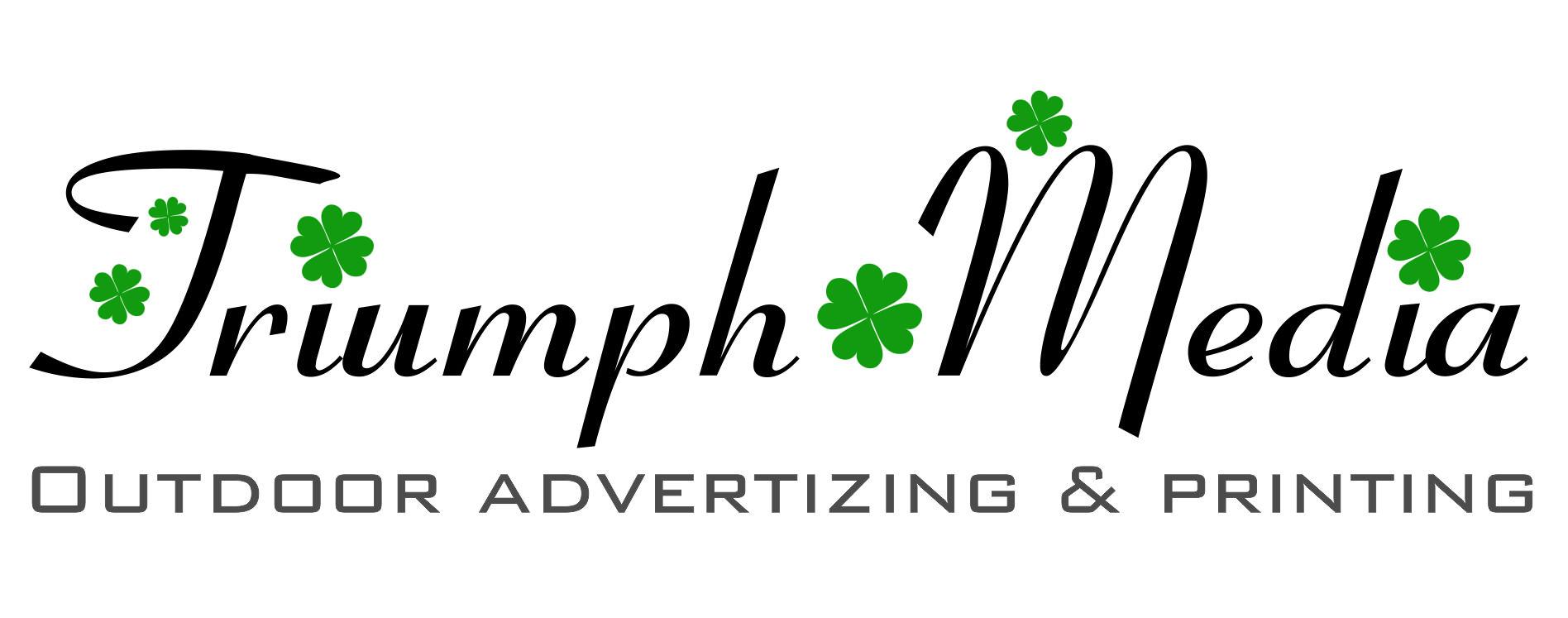 Разработка логотипа  TRIUMPH MEDIA с изображением клевера фото f_5072c24c87aa2.jpg