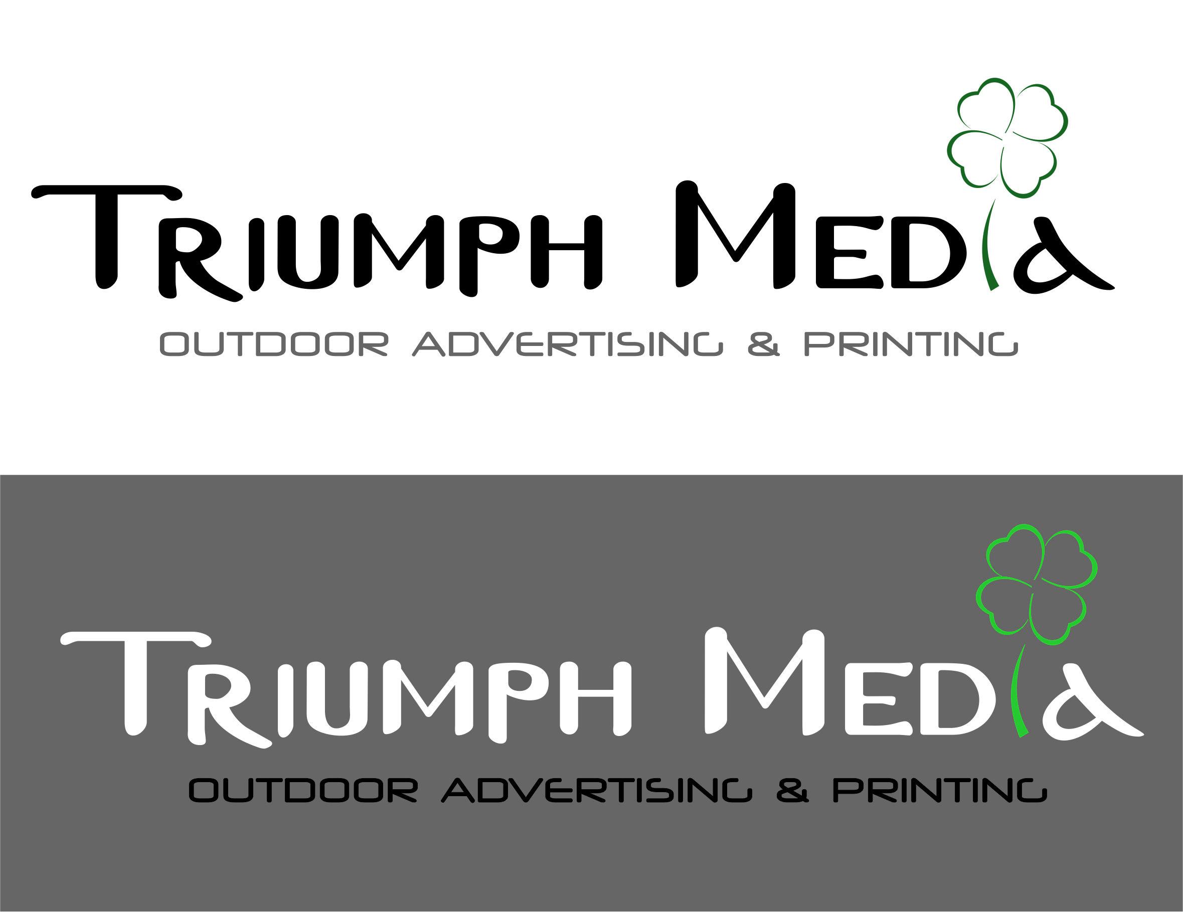 Разработка логотипа  TRIUMPH MEDIA с изображением клевера фото f_5072c7f938a5c.jpg
