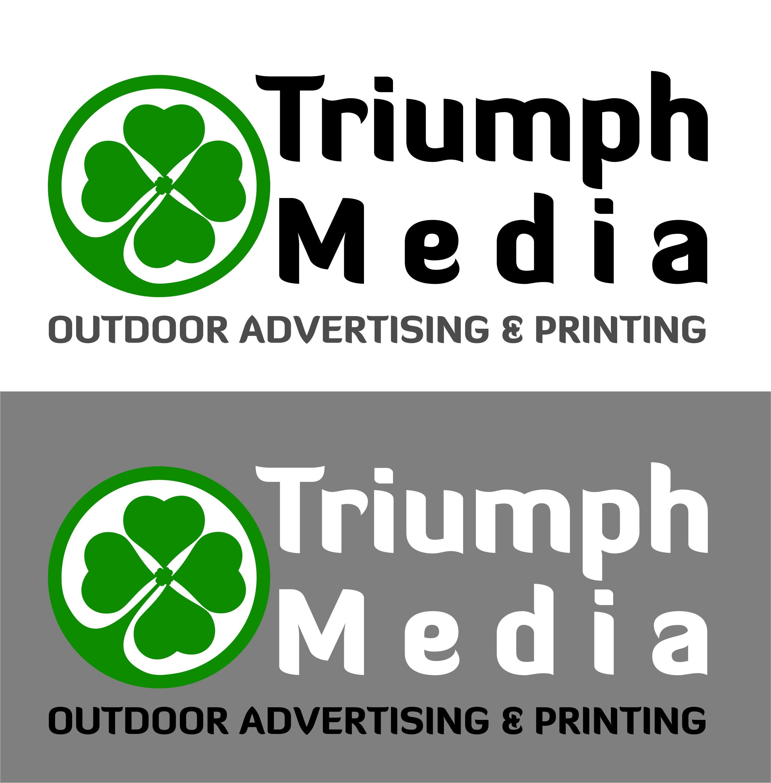 Разработка логотипа  TRIUMPH MEDIA с изображением клевера фото f_5072d45165275.jpg