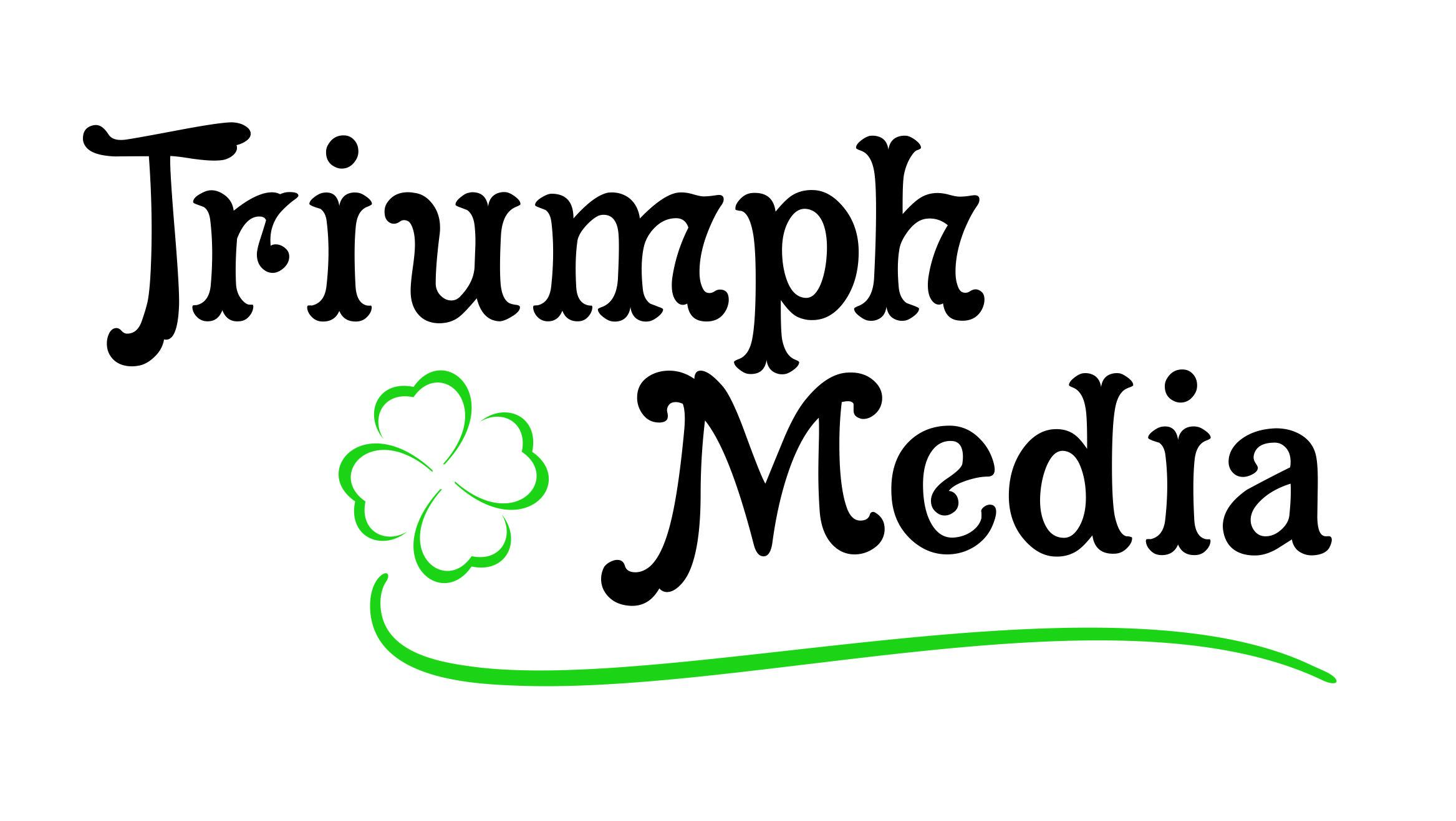 Разработка логотипа  TRIUMPH MEDIA с изображением клевера фото f_5072e463b058f.jpg