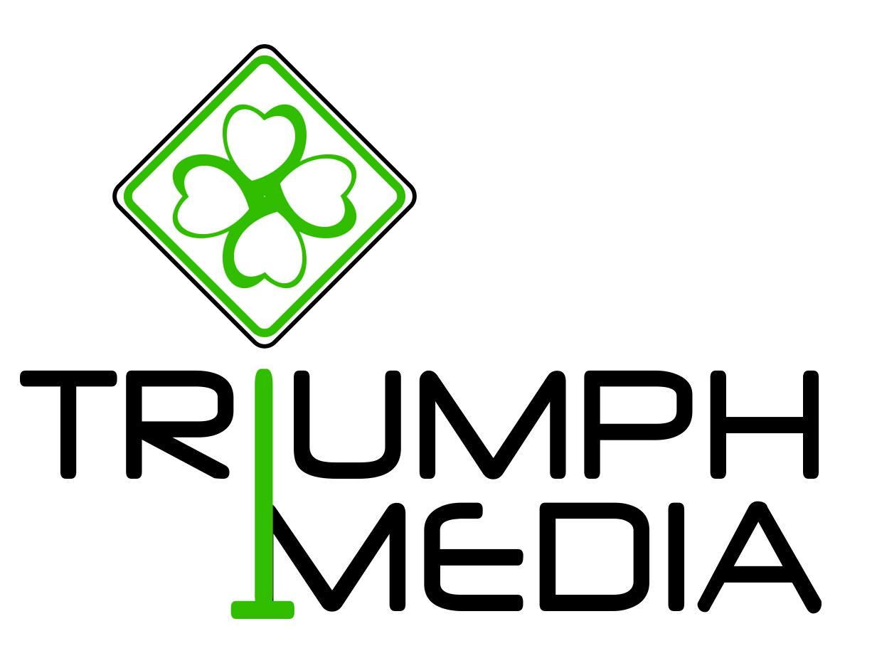 Разработка логотипа  TRIUMPH MEDIA с изображением клевера фото f_5073fc3158e48.jpg