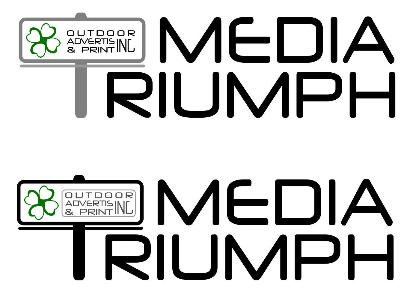 Разработка логотипа  TRIUMPH MEDIA с изображением клевера фото f_507404cbe29fc.jpg