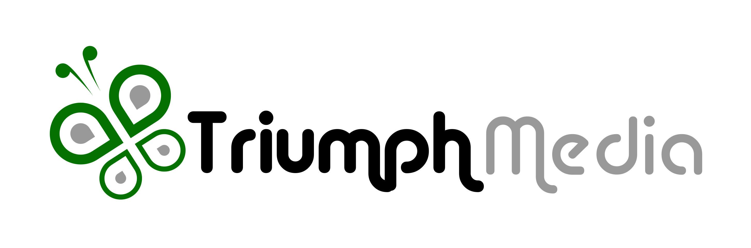 Разработка логотипа  TRIUMPH MEDIA с изображением клевера фото f_507432e8e1f64.jpg