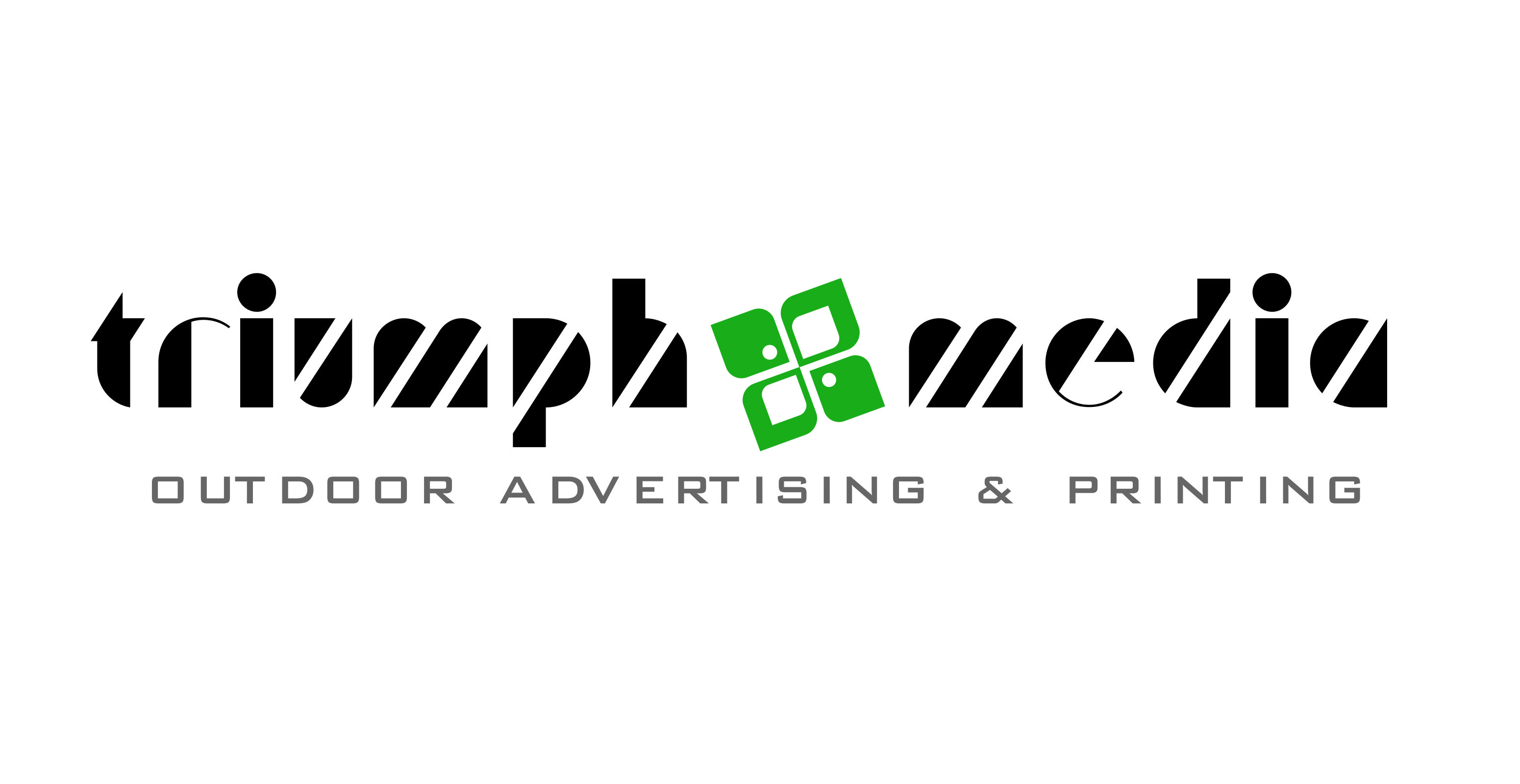 Разработка логотипа  TRIUMPH MEDIA с изображением клевера фото f_50747cfc35fdb.jpg