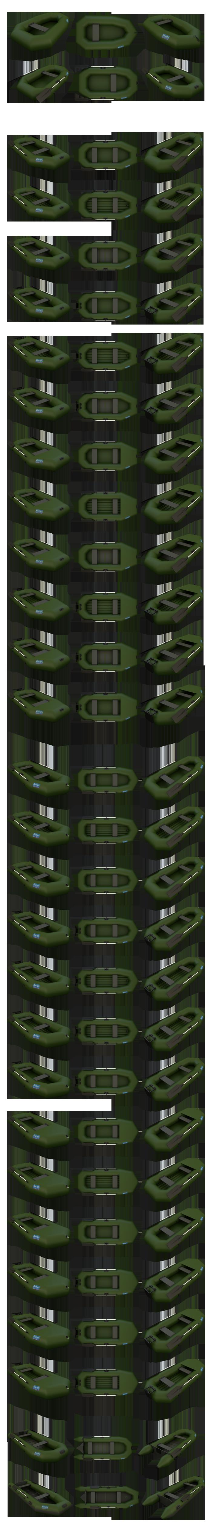 Моделирование и визуализация Лодок ПВХ в различной комплектации 87 позиций