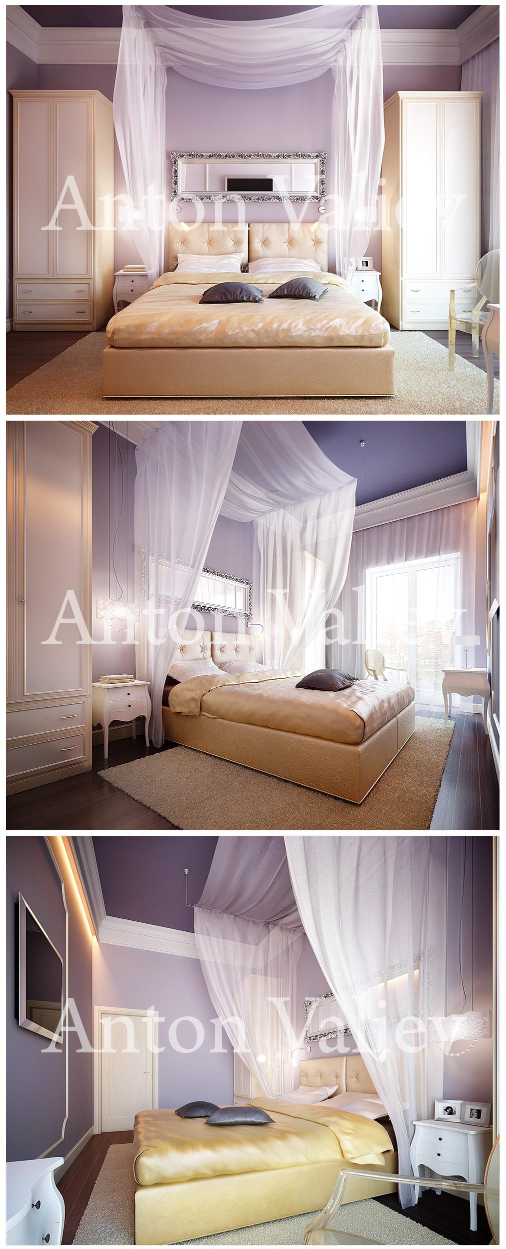 Апартаменты. г.С. Петербург. Спальня