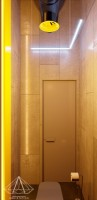 Тренажерный зал HAMMER Legend. 1500 м2. Казахстан, Астана. Входная группа. Санузел. Ракурс 3