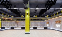 Тренажерный зал HAMMER Legend. 1500 м2. Казахстан, Астана. Зал групповых занятий. Ракурс 4