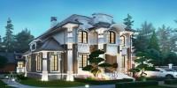 БАРВИХА. Проектирование дома на 295 м2 и банного комплекса на 74 м2 с ландшафтным дизайном. Ракурс 2