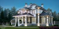БАРВИХА. Проектирование дома на 295 м2 и банного комплекса на 74 м2 с ландшафтным дизайном. Ракурс 3
