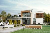 GRENLANDIA. Доработка редизайн фасадов жилого дома. Ракурс 1.