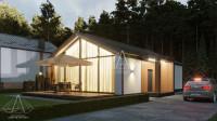 Barn House «One». ПОЛНЫЙ цикл проектных работ. Ракурс 1