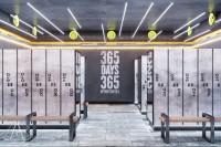 Тренажерный зал HAMMER Legend. 1500 м2. Казахстан, Астана. Блок для посетителей. Раздевалки. Ракурс 4