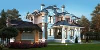 БАРВИХА. Проектирование дома на 295 м2 и банного комплекса на 74 м2 с ландшафтным дизайном. Ракурс 4