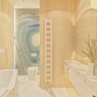 БАРХАТ. Ванная хозяев на 4,4 м2. Вариант 2. Ракурс 3