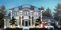 БАРВИХА. Проектирование дома на 295 м2 и банного комплекса на 74 м2 с ландшафтным дизайном. Ракурс 1