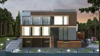 RIVER PLACE. Реконструкция дома с достройкой второго этажа. Полный цикл проектных работ. Ракурс 1