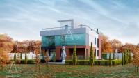 SMALL CUBE. Редизайн фасадов уже построенного дома. Ракурс 2