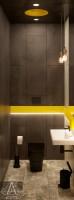 Тренажерный зал HAMMER Legend. 1500 м2. Казахстан, Астана. Тренерский блок. Санузел. Ракурс 1