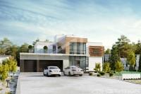GRENLANDIA. Доработка редизайн фасадов жилого дома. Ракурс 2