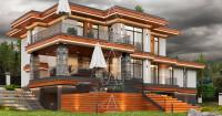 «Brilliant House 1». Дом в стиле Райта. ПОЛНЫЙ ЦИКЛ ПРОЕКТИРОВАНИЯ. Ракурс 9