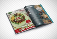 Верстка страниц глянцевого журнала (глянец, еда)