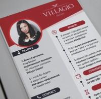 """Брошюра для агентства недвижимости """"Villagio"""" (дома, коттеджи, аренда, продажа)"""