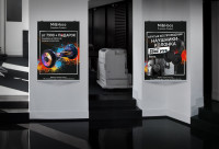 Плакат Hoco Xiaomi (гироскутер, акция, магазин)