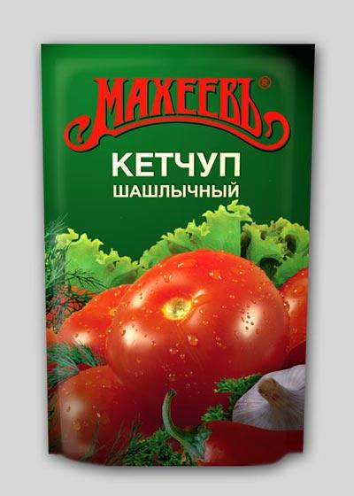 Упаковка дой-пак для кетчупа