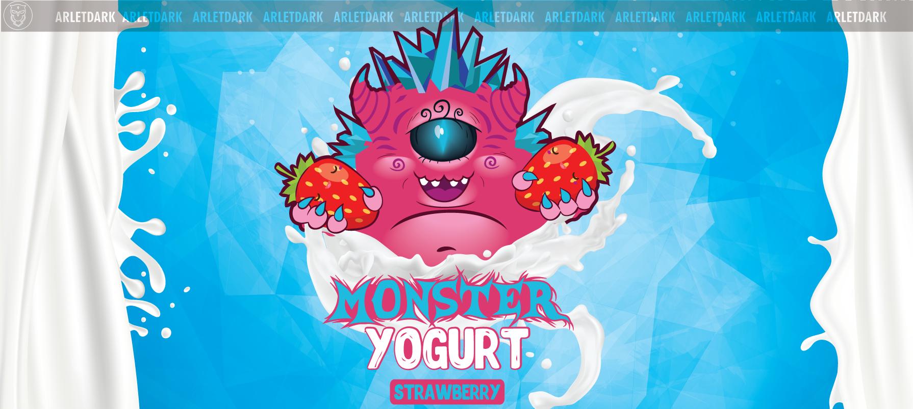 Monster yogurt strawberry
