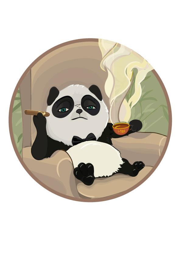 Панда для рекламы чая