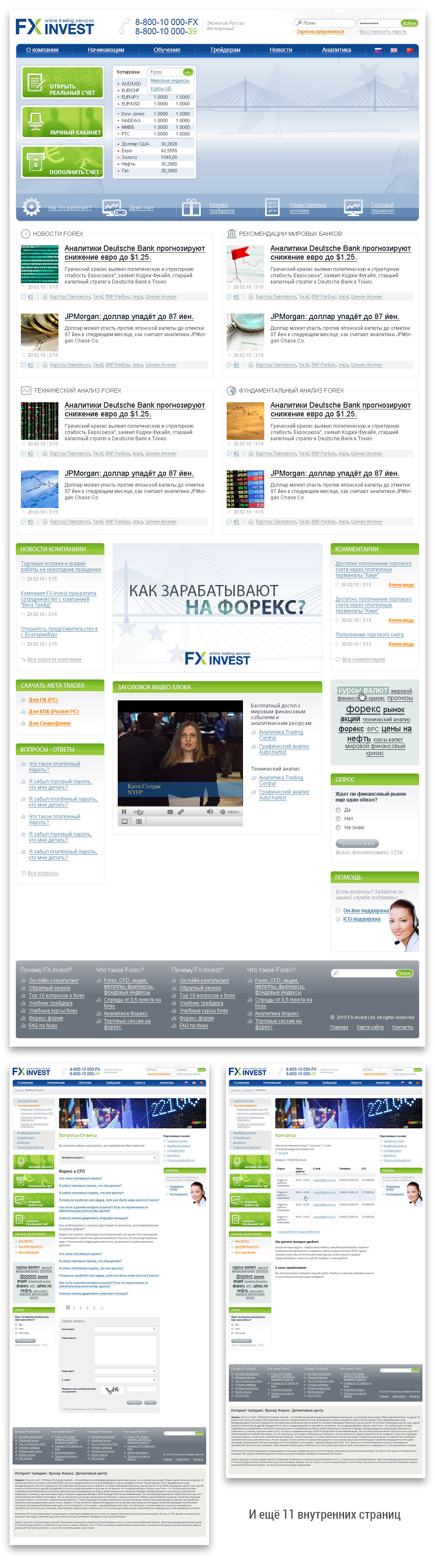 FX Invest - Forex Trading, 14 страниц